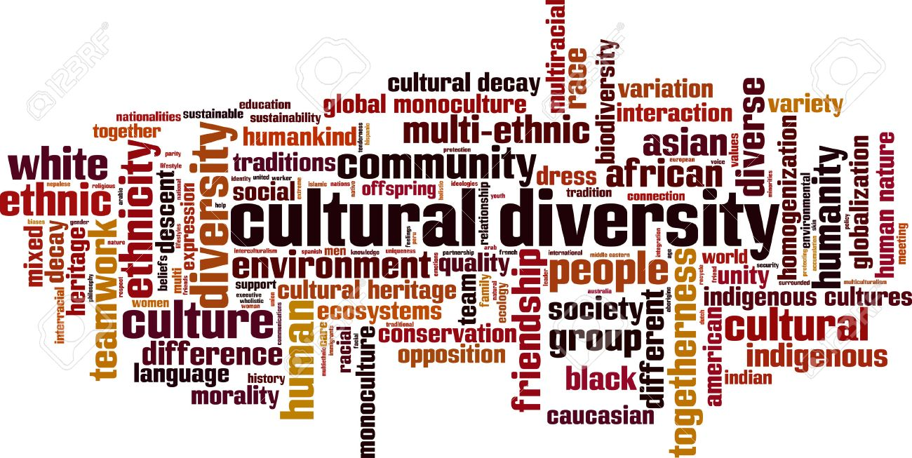 Cultural diversity word cloud concept. Vector illustration Stock Vector - 44489566