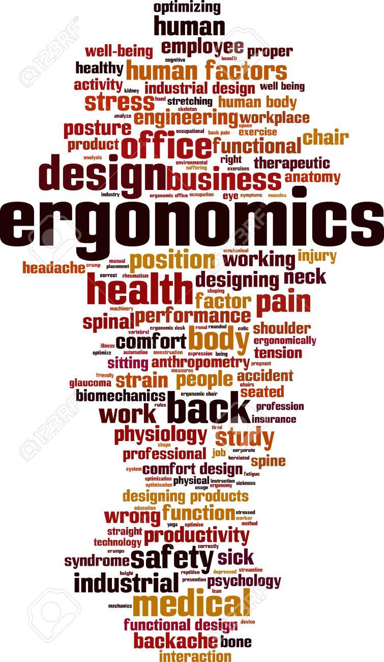 Ergonomics word cloud concept. Vector illustration - 52103262