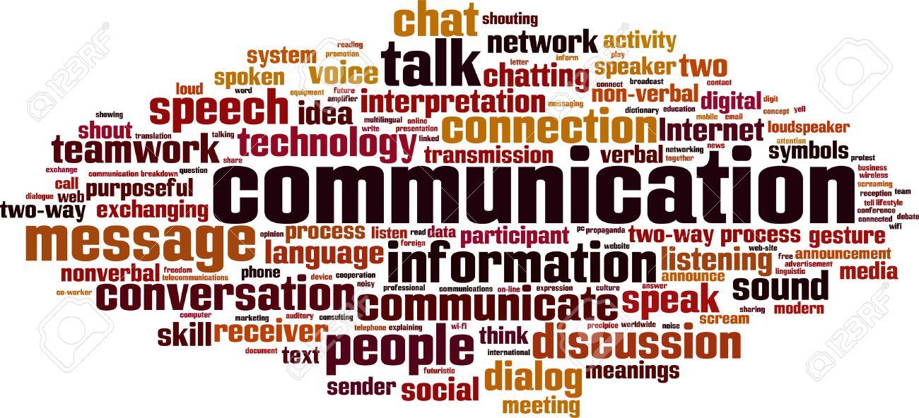 Communication word cloud concept. Vector illustration - 54116112