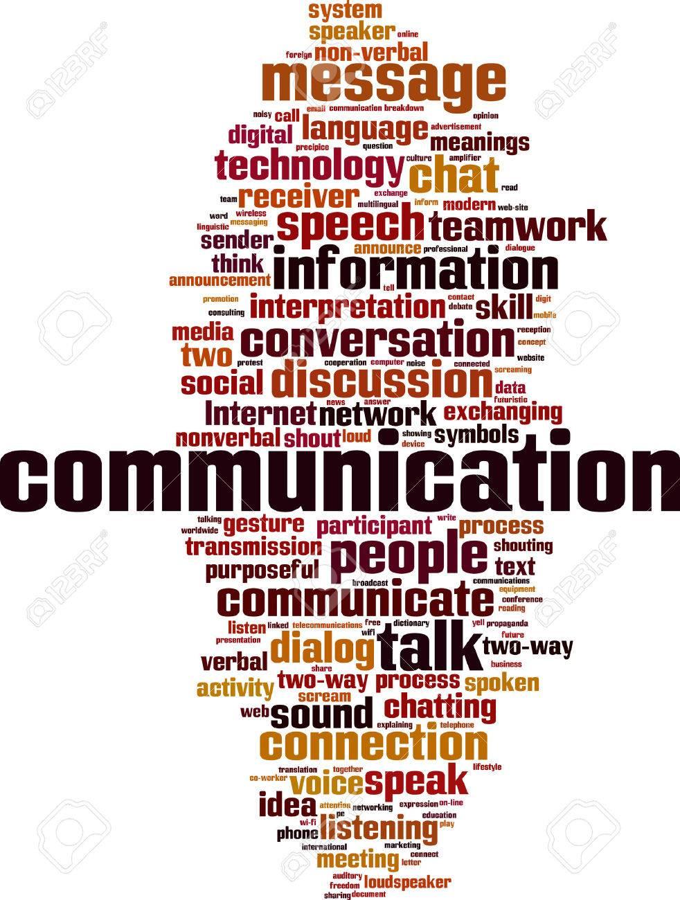 Communication word cloud concept. Vector illustration - 54116116