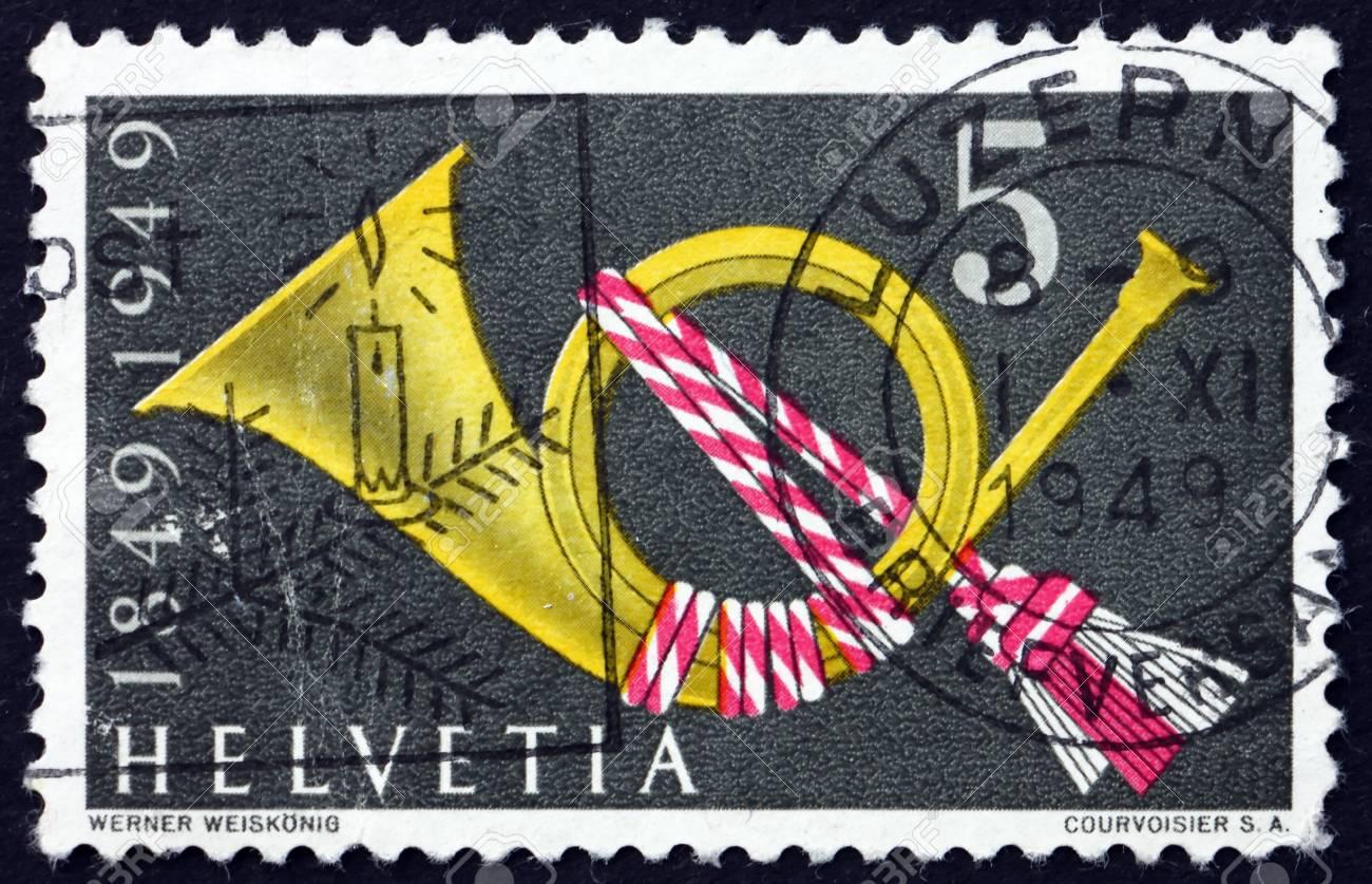 Switzerland Circa 1949 A Stamp Printed In The Switzerland Stock