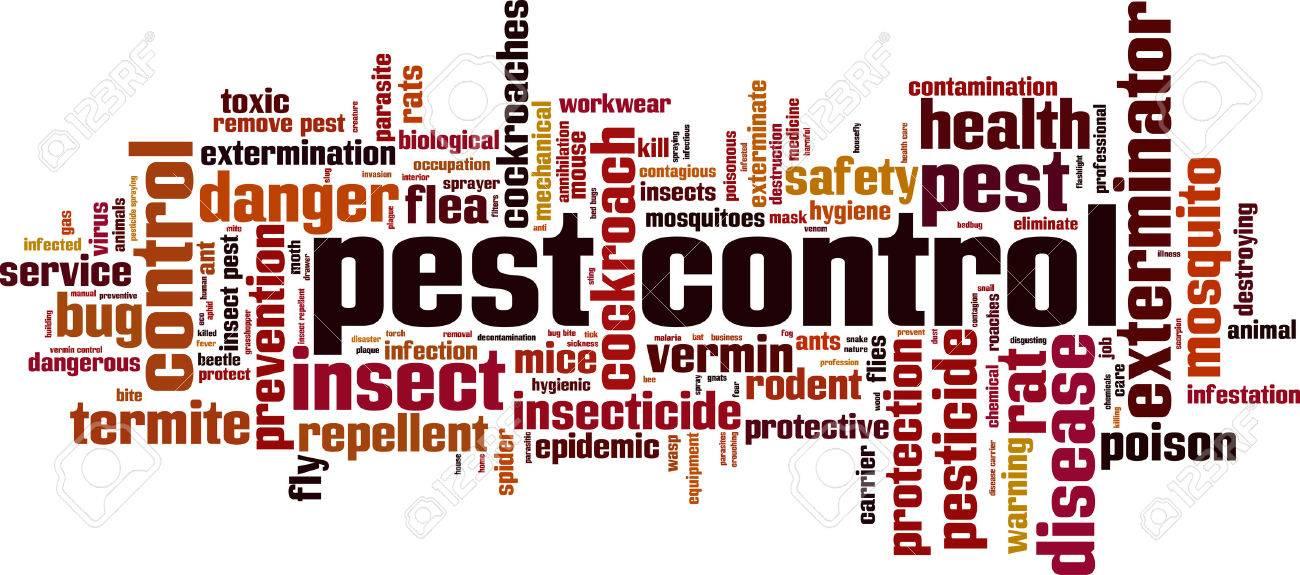 Pest control word cloud concept. Vector illustration - 56719217