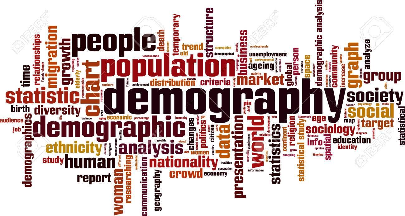 Demography word cloud concept. Vector illustration - 61246507