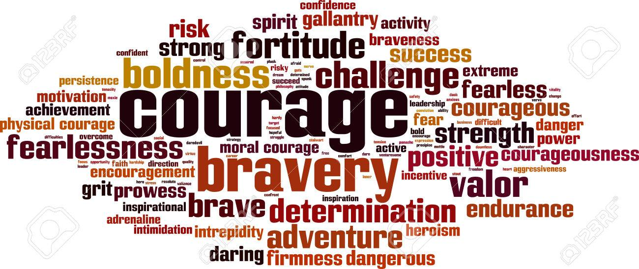 Courage word cloud concept. Vector illustration - 66830307