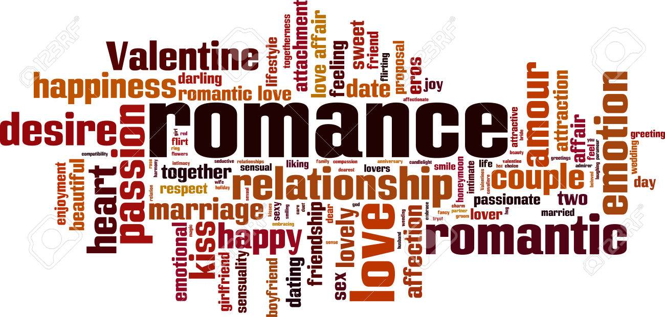 romance word cloud concept vector illustration royalty free