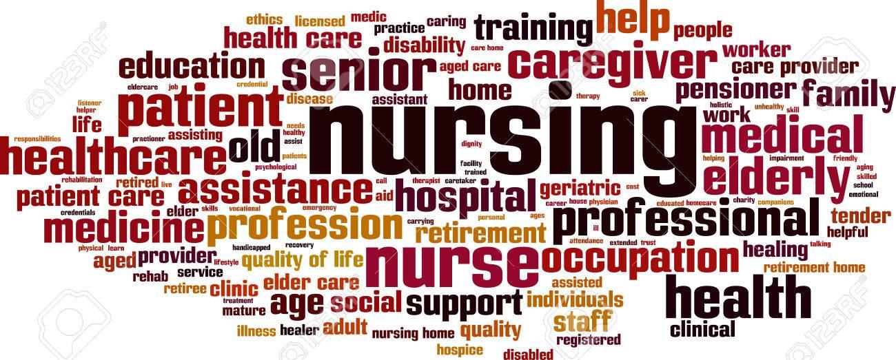 Nursing word cloud concept. Vector illustration - 75163582