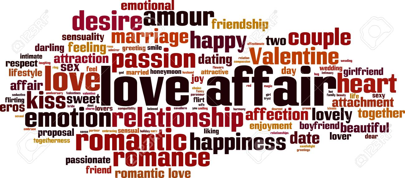 Love Affair Word Cloud Concept Vector Il Ration Stock Vector