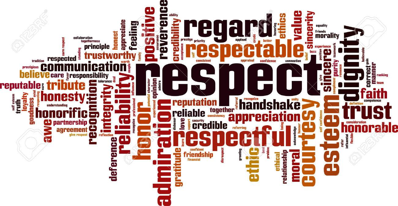 Respect word cloud concept illustration - 85612651