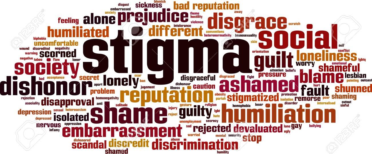 Stigma word cloud concept - 87400469