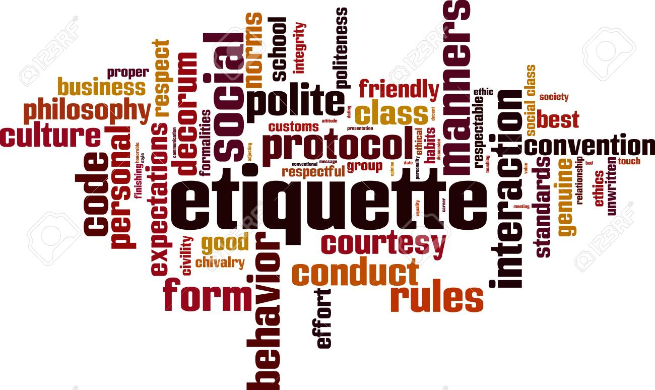 Etiquette word cloud concept. - 87862238