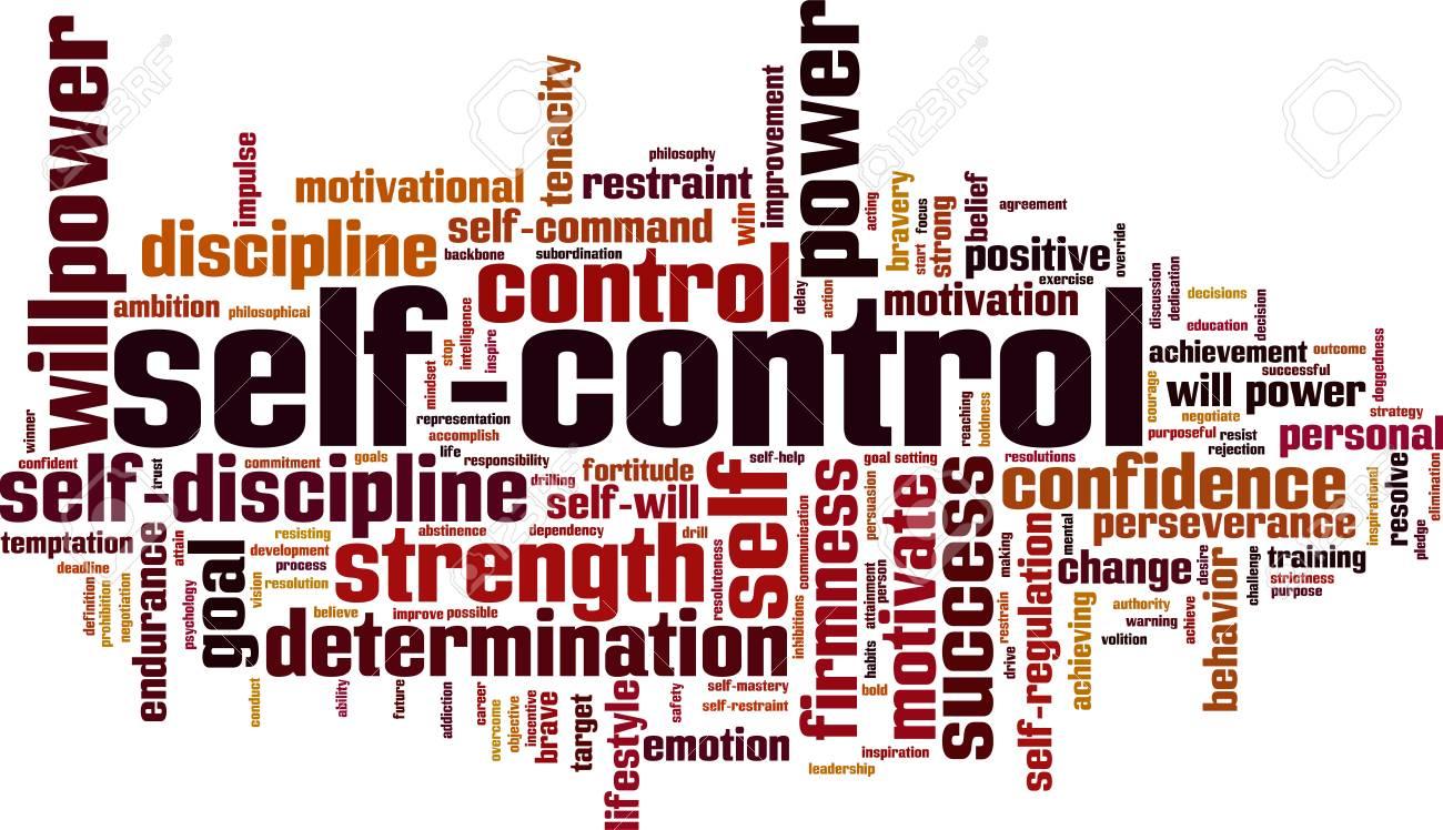 Self-control word cloud concept. Vector illustration - 89532100