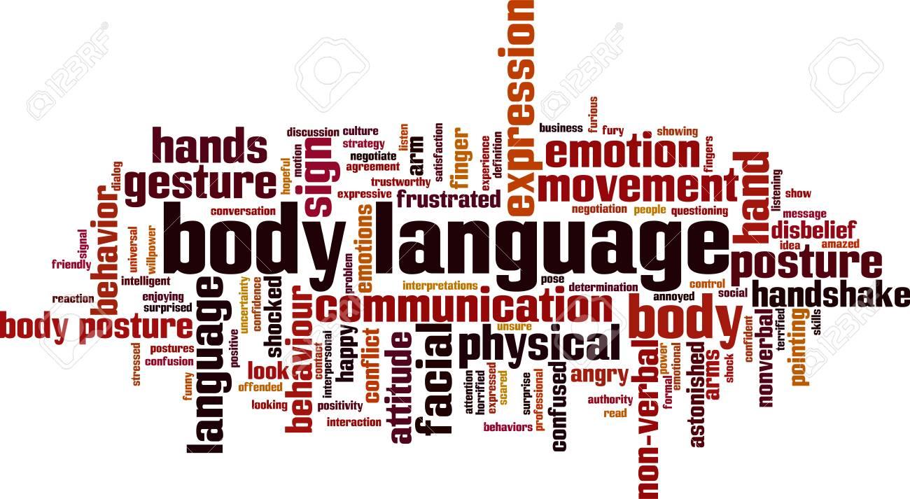 Body language word cloud concept. Vector illustration - 90836627