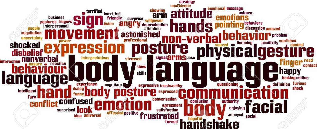 Body language word cloud concept. Vector illustration - 90836628