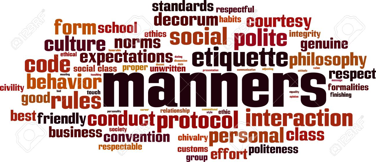 Manners word cloud concept. Vector illustration - 91553898