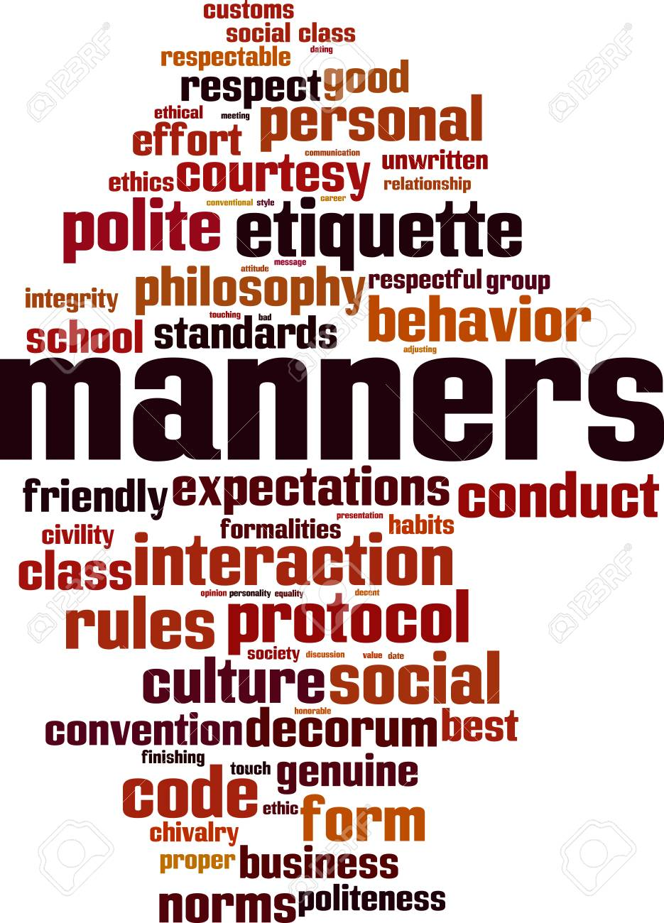 Manners word cloud concept. Vector illustration - 91553905
