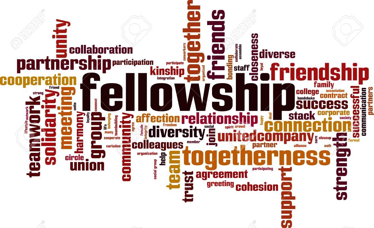 Fellowship word cloud concept. Vector illustration - 97468745