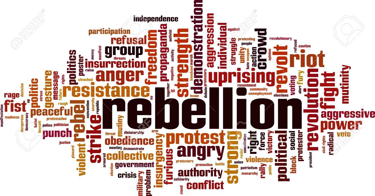 Rebellion word cloud concept. Vector illustration - 126810994