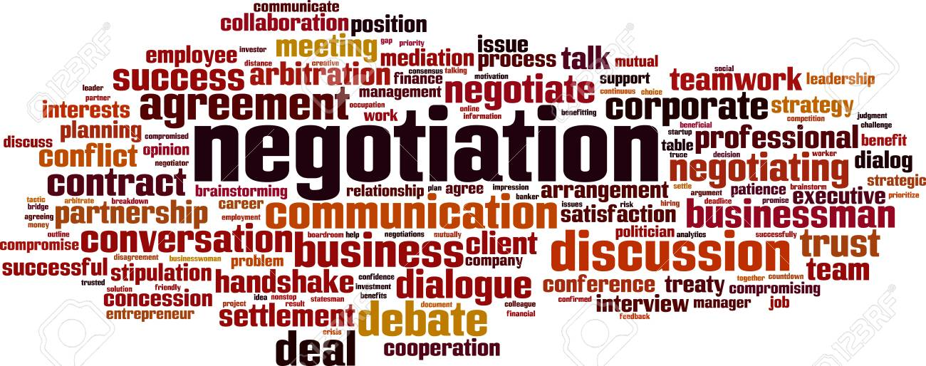 Negotiation word cloud concept  Collage made of words about negotiation