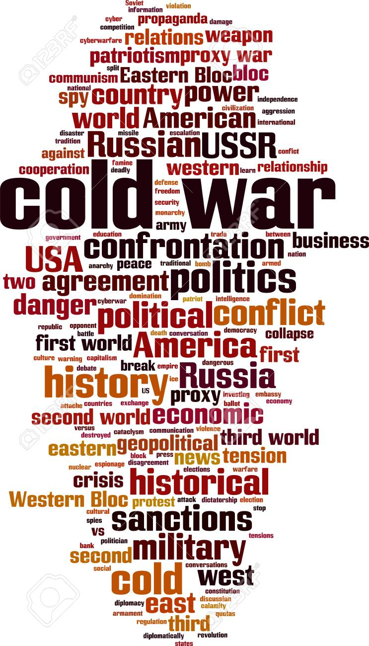 Cold war word cloud concept  Collage made of words about cold