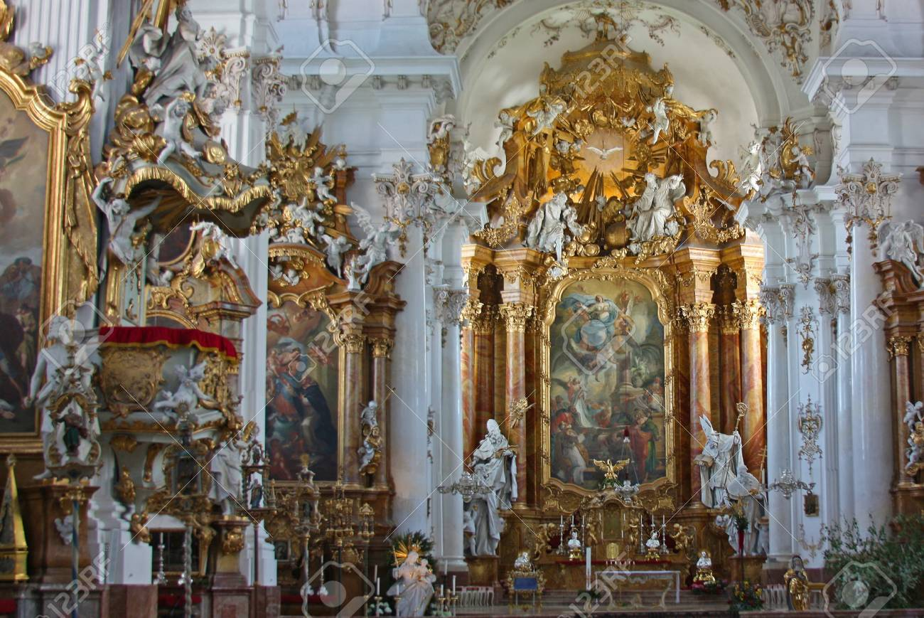 interior of ST. Georg church in Ammersee Stock Photo - 14174875