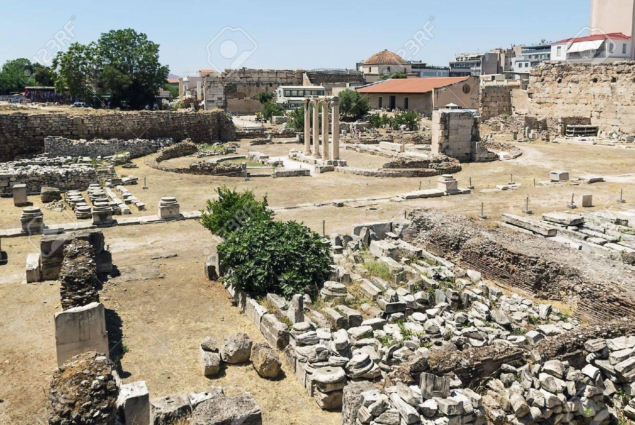 古典的なアテネの古代アゴラは、...