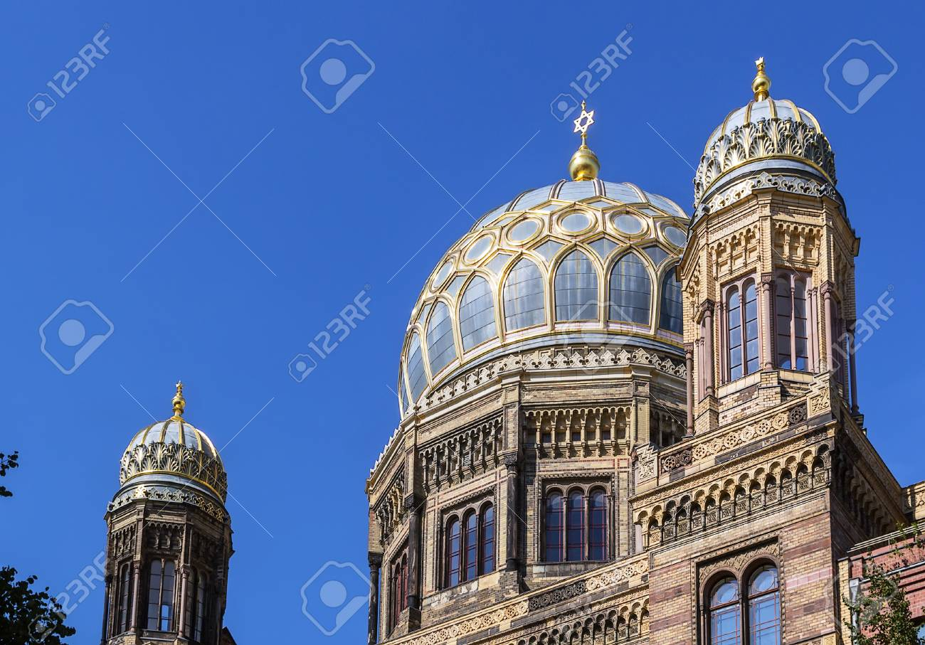 New Synagogue was built 1866 as the main synagogue of the Berlin Jewish community Stock Photo - 22664432