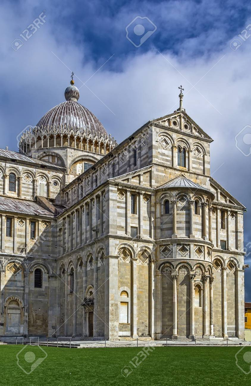 Medieval cathedral of the Archdiocese of Pisa, entitled to Santa