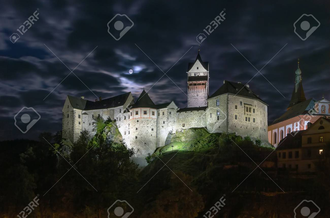 Loket Castle Is A 12th Century Gothic Style Located About 12 Km From Karlovy