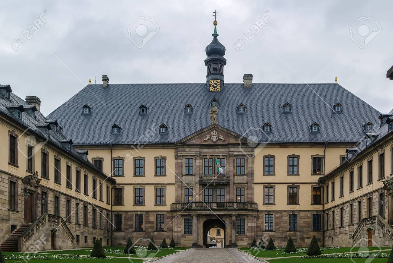 Main Entrance Of City Palace Stadtschloss In Fulda Germany Stock Photo Picture And Royalty Free Image Image 56387097