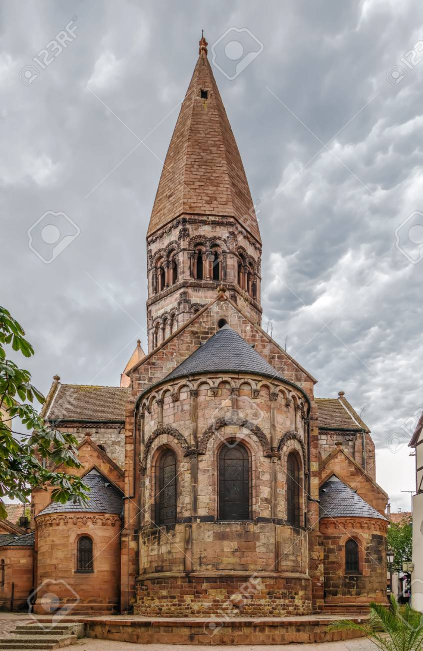 Church Of Saint Faith Of Selestat Is A Major Romanesque Architecture