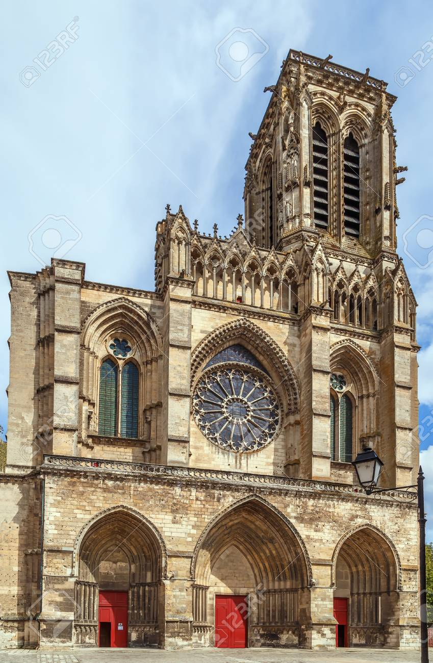 soissons cathedral basilica is a gothic cathedral in soissons