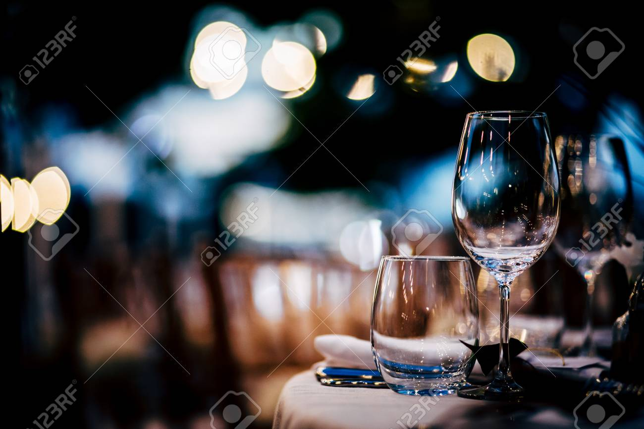 Luxury Table setting for party, Christmas, holidays and weddings. - 90851616