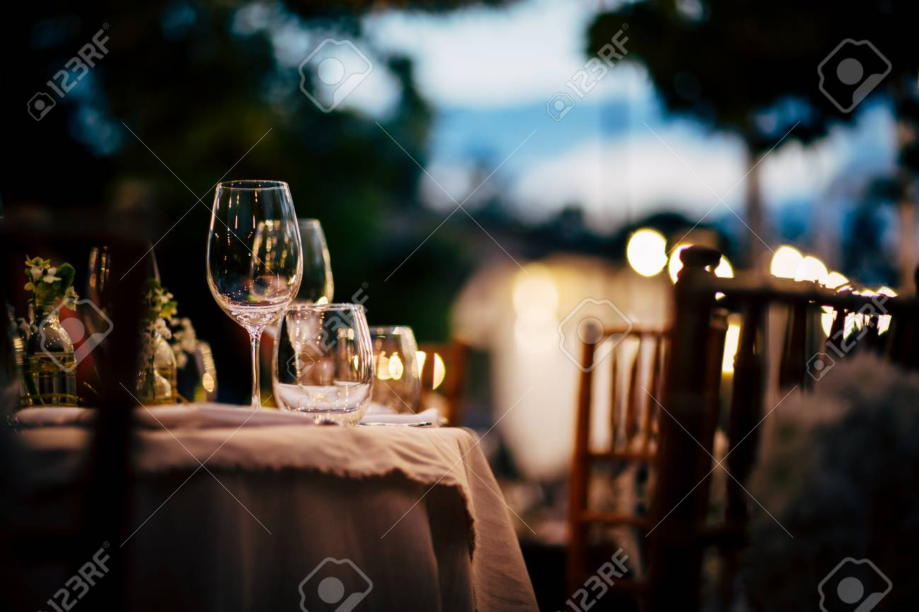Luxury Table setting for party, Christmas, holidays and weddings. - 90699979