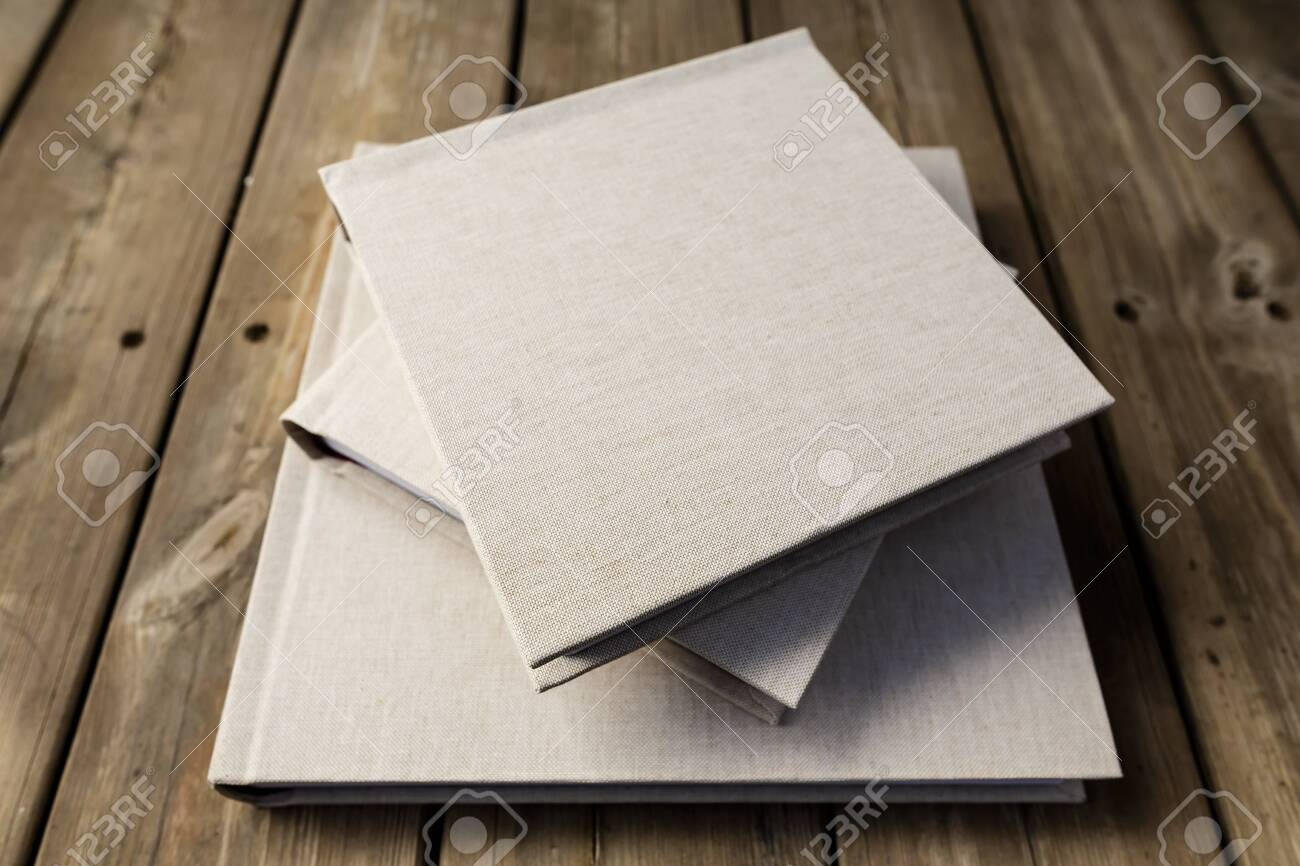 Wedding Albums On Beautiful Wood Background Cloth Cover Without Stock Photo Picture And Royalty Free Image Image 144939676