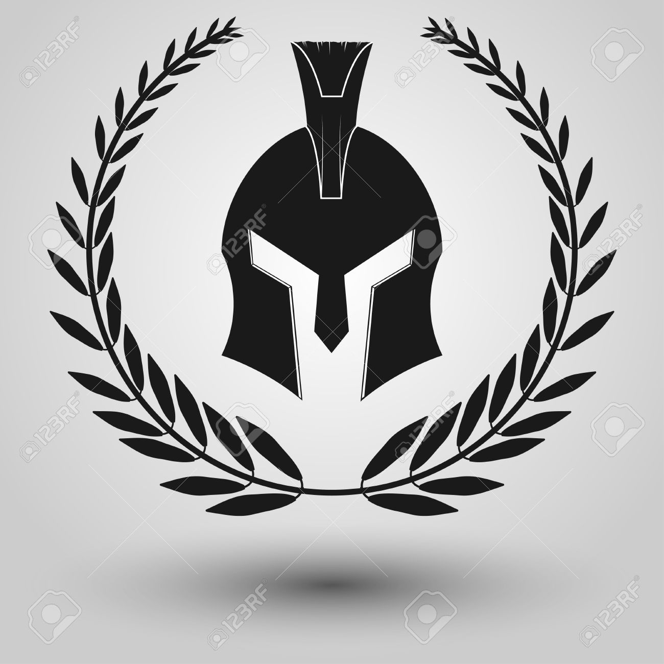 420 greek ancient wreath cliparts stock vector and royalty free spartan helmet full face silhouettes with laurel wreath symbol of gladiator soldier or greek warrior biocorpaavc