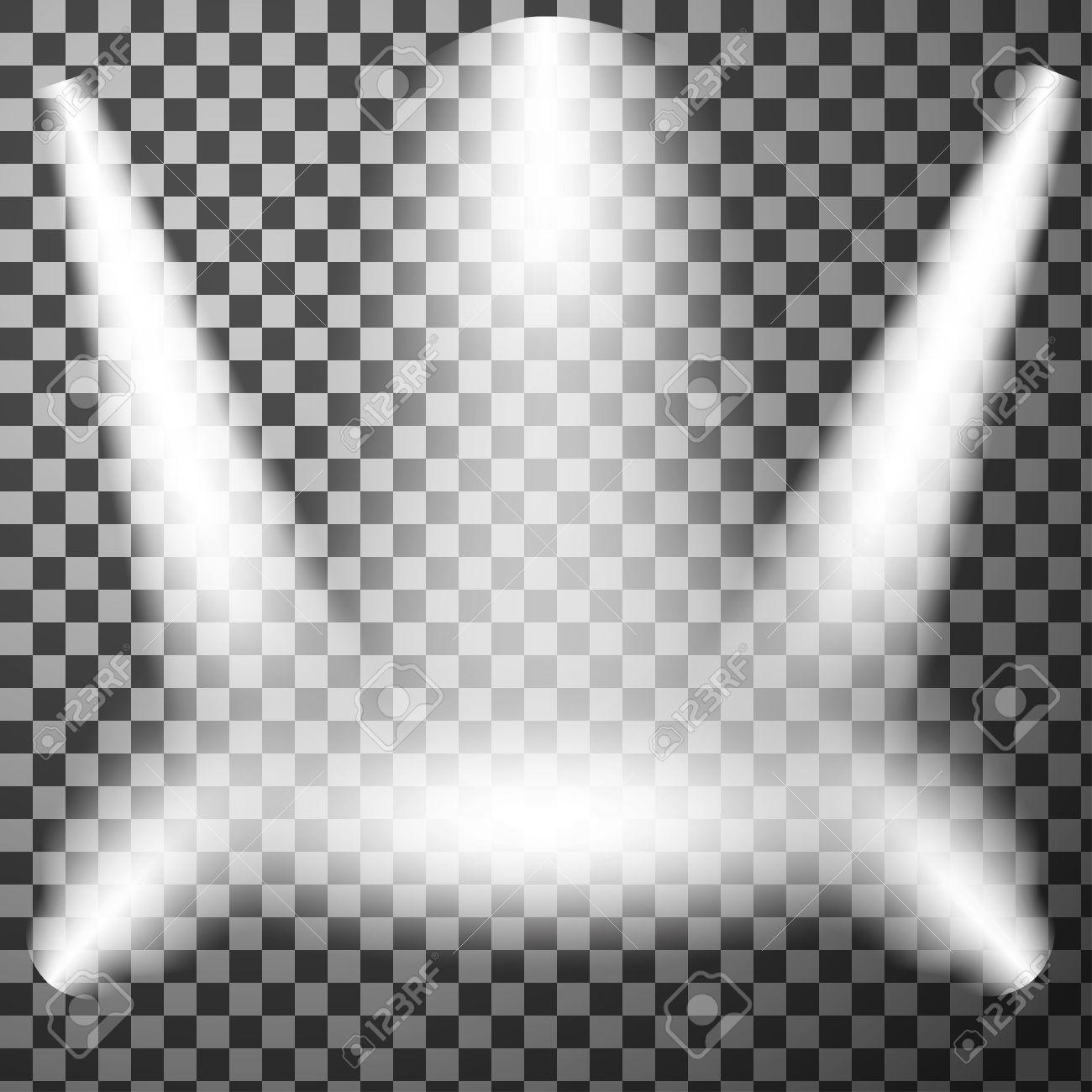 Realistic Light Effect Stage Spotlight Show Scene Spotlight