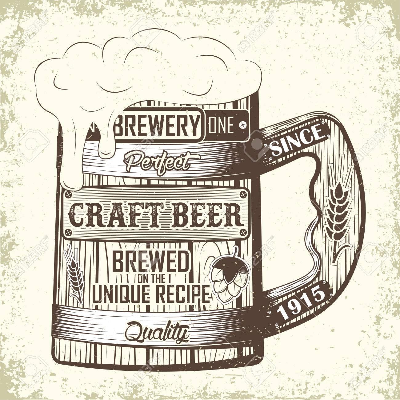 Vintage T Shirt Graphic Design Grange Print Stamp Craft Beer