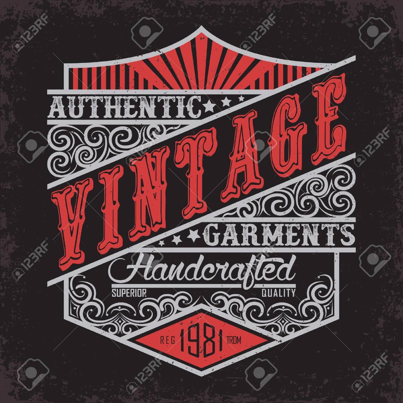 Vintage Denim typography, grunge t-shirt graphics, vintage grunge Artwork apparel stamp, Vintage Denim wear tee print design, Denim goods emblem, vector - 62080690