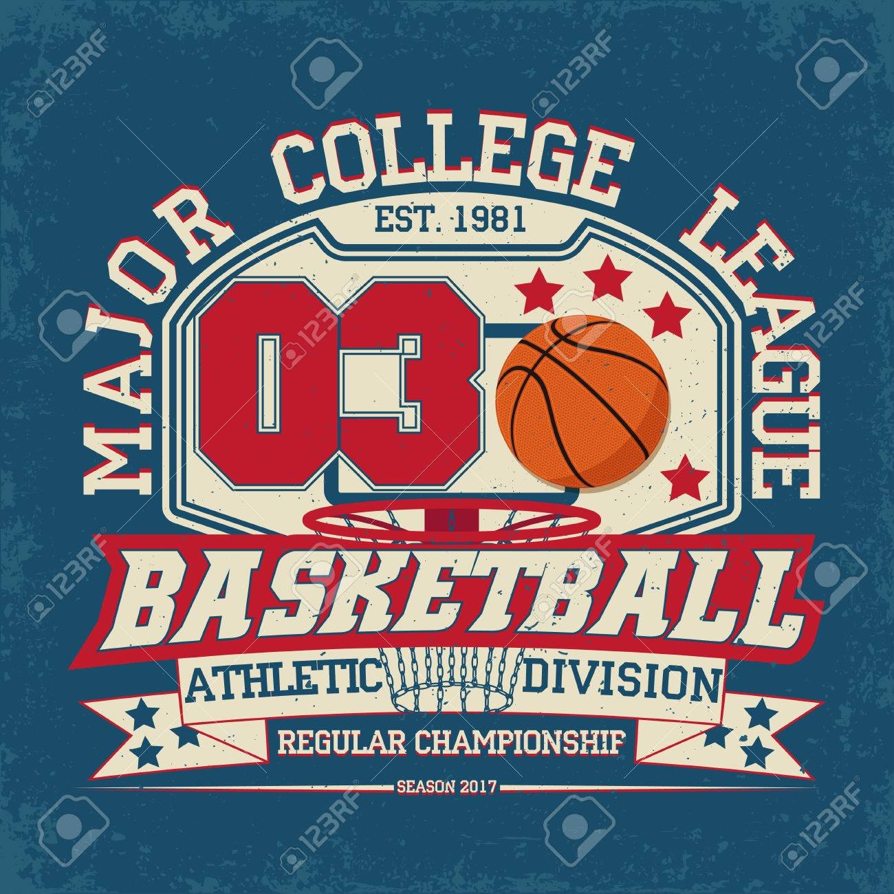 Vintage t-shirt graphic design, grange print stamp, basketball typography emblem, sports logo Creative design, Vector - 65430316