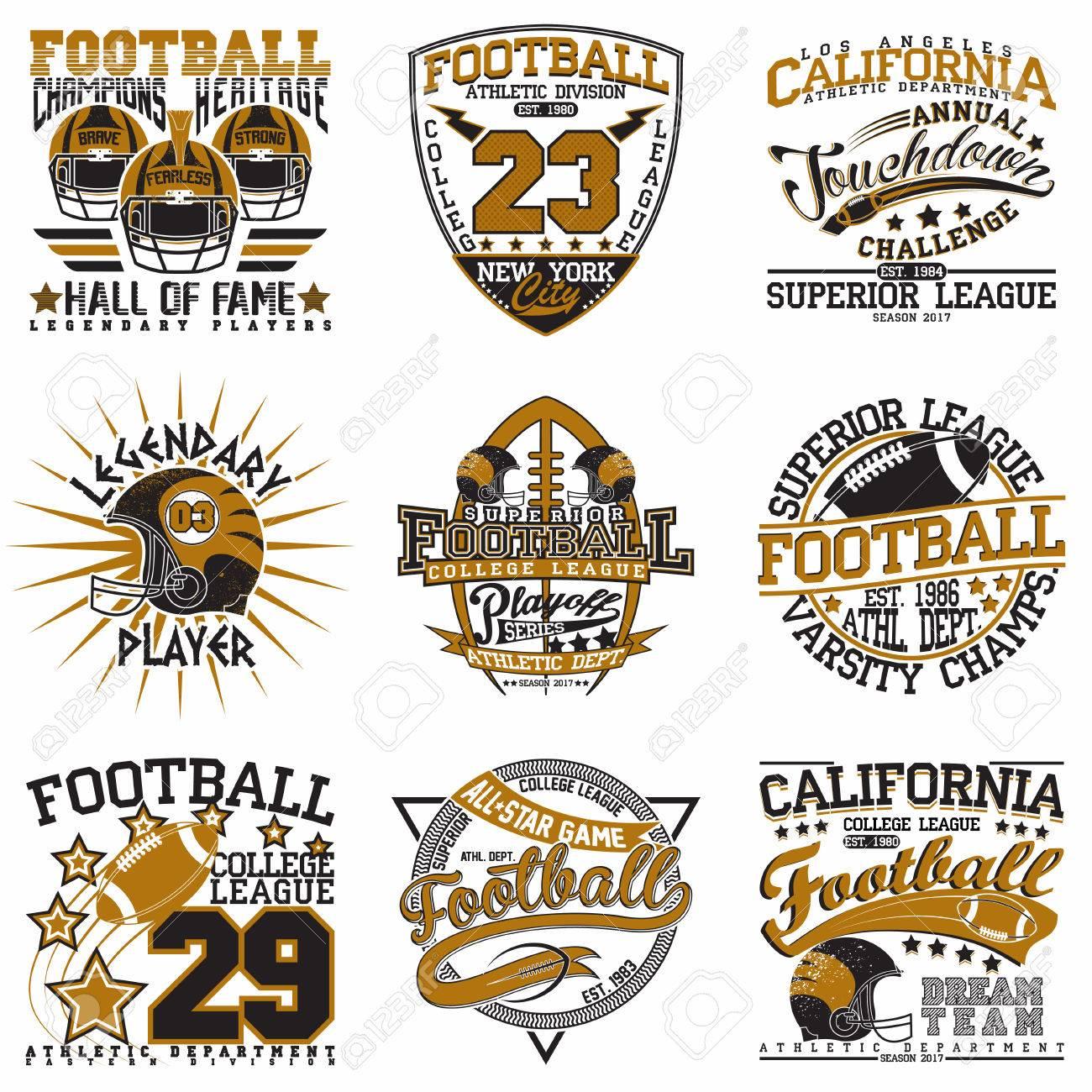 Set of Grunge Sport t-shirt graphic designs - 66856377