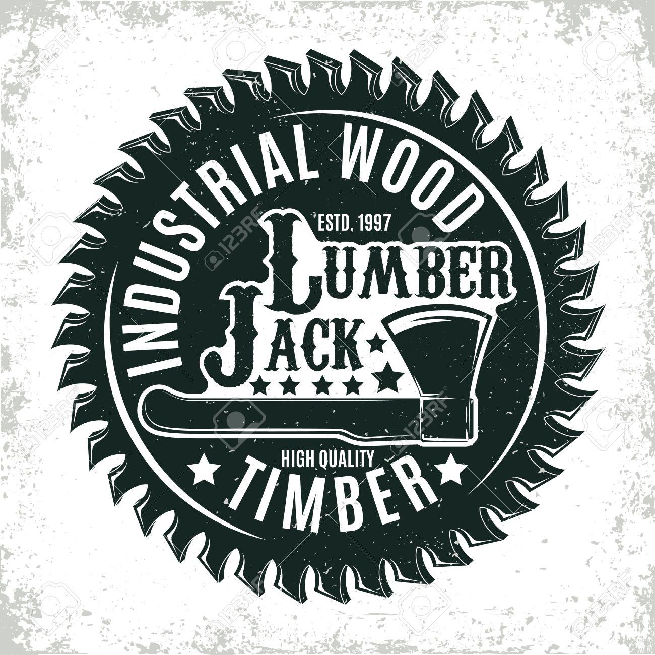 Vintage woodworking logo design, grange print stamp, creative carpentry typography emblem, Vector - 72243546