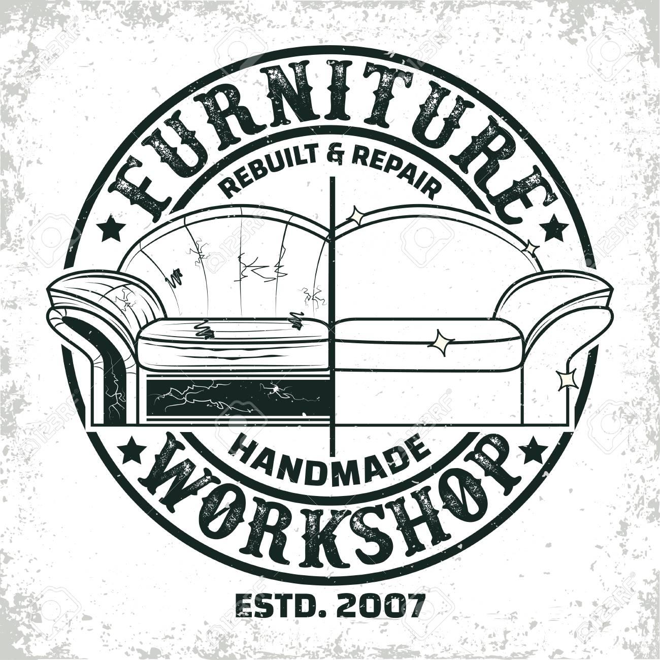 Vintage Furniture Workshop Logo Designs Workshop Grange Print