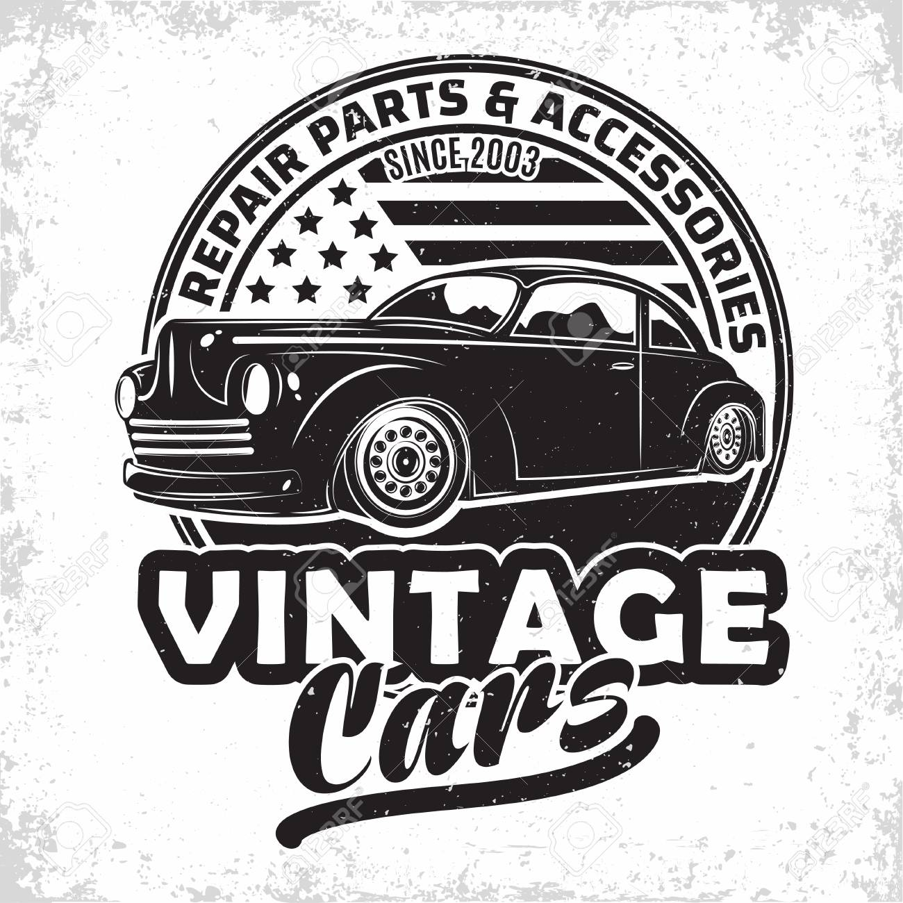 Hot Rod Garage Logo Design Emblem Of Muscle Car Repair And Service Royalty Free Cliparts Vectors And Stock Illustration Image 109580534