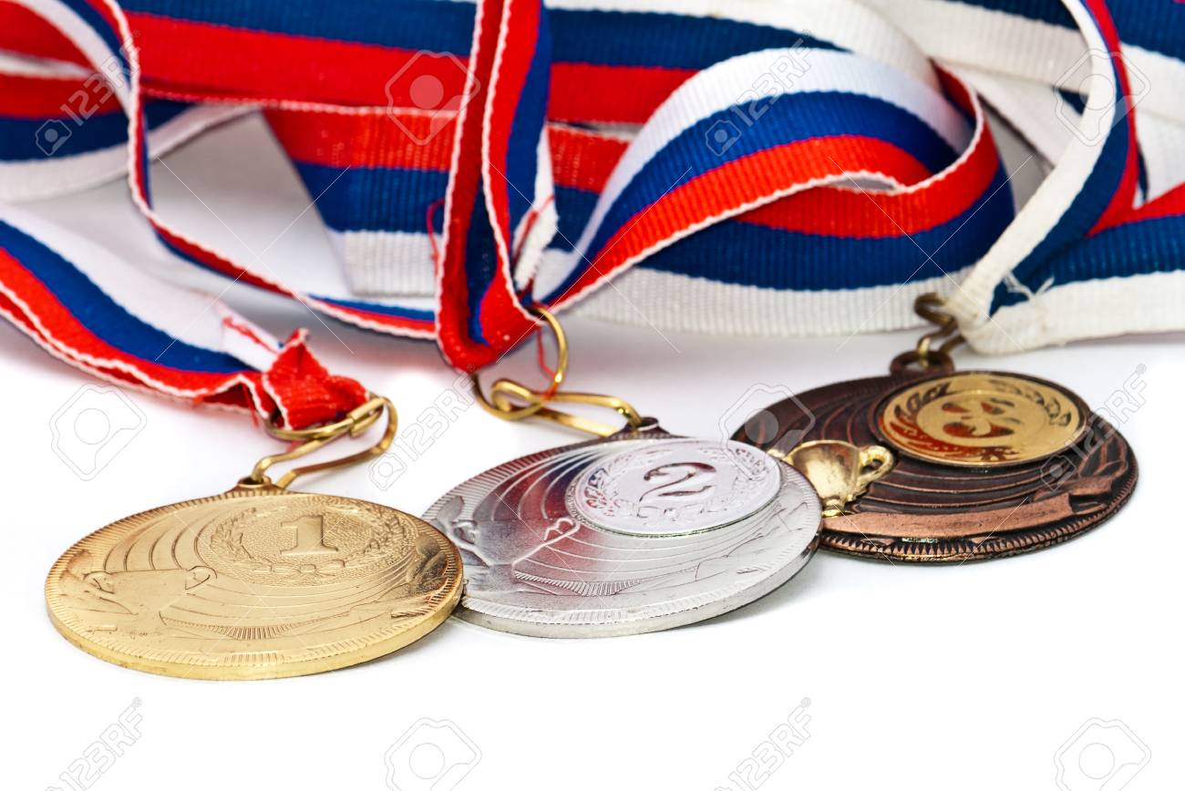 Sports Medal of the Russian Federation. Isolated on white background Stock Photo - 9550393