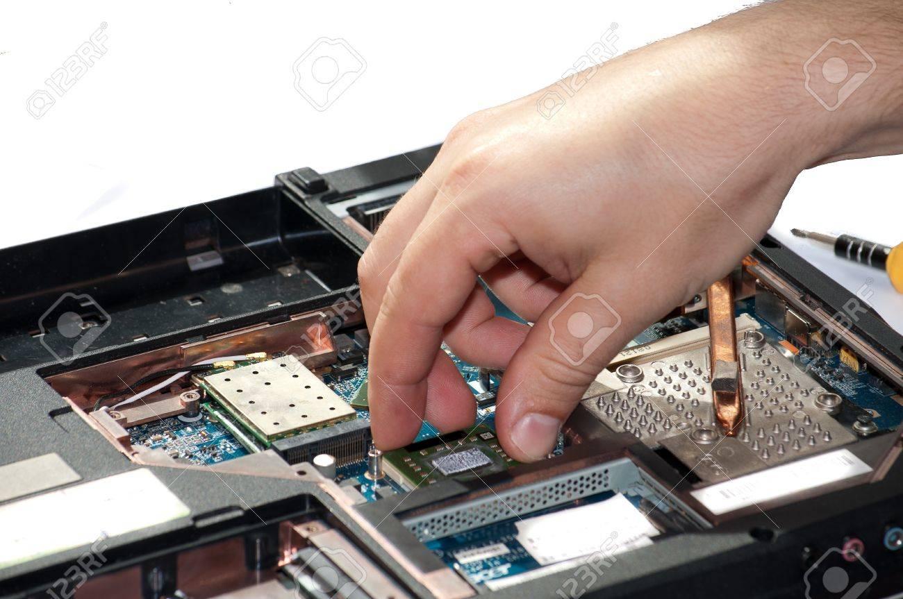 Laptop Repair The Specialist Conducts Repairs Laptop Motherboard – Laptop Repair Technician