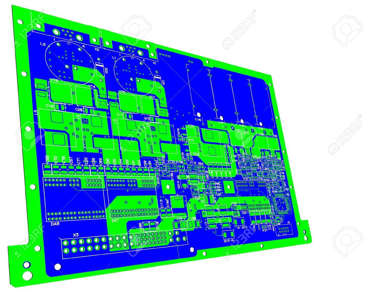 The printed circuit board. Without electronic components Stock Vector - 10957911
