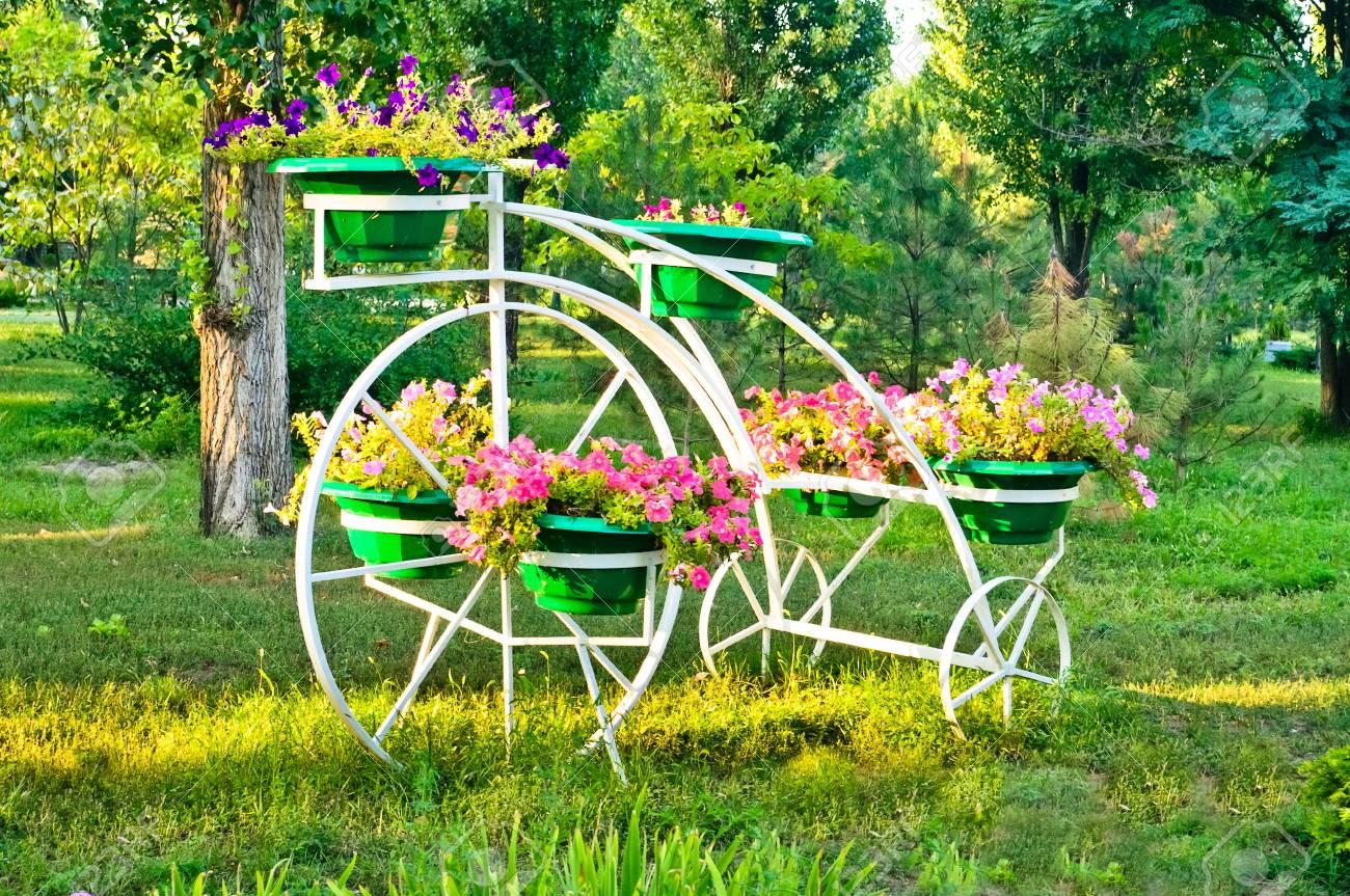 Lawn Decorations Garden Flower Pot Holder Stock Photo Picture