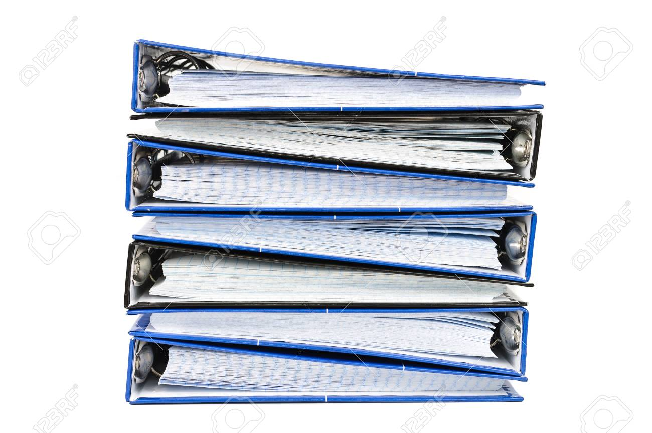 A stack of notebooks. Photos on white background Stock Photo - 12682790