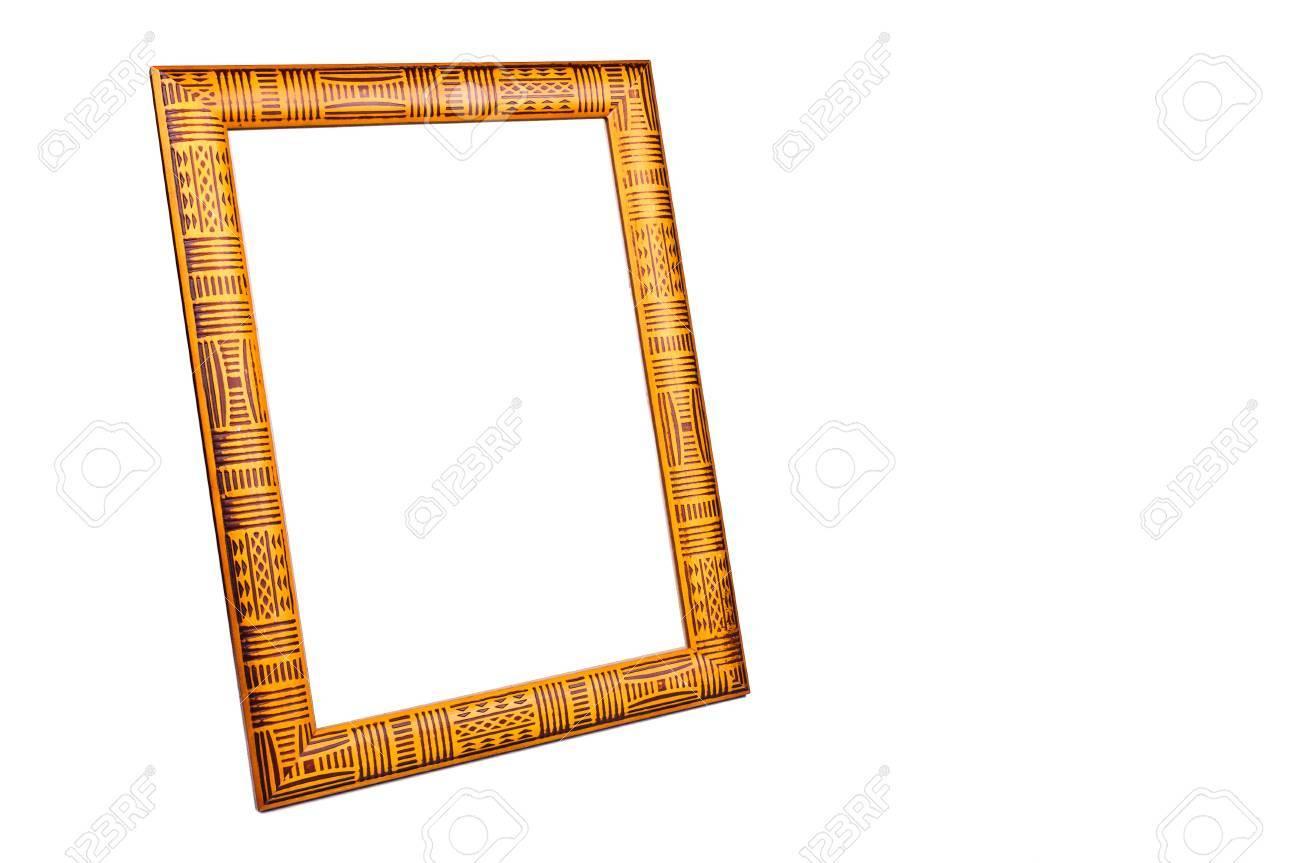 Die Rahmen Für Fotos Das Foto Auf Weißem Hintergrund Lizenzfreie ...