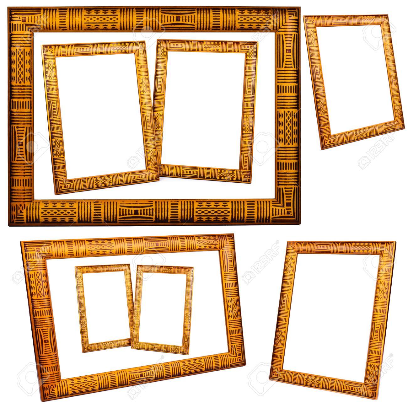 Die Rahmen Für Die Fotos. Das Foto Auf Weißem Hintergrund ...